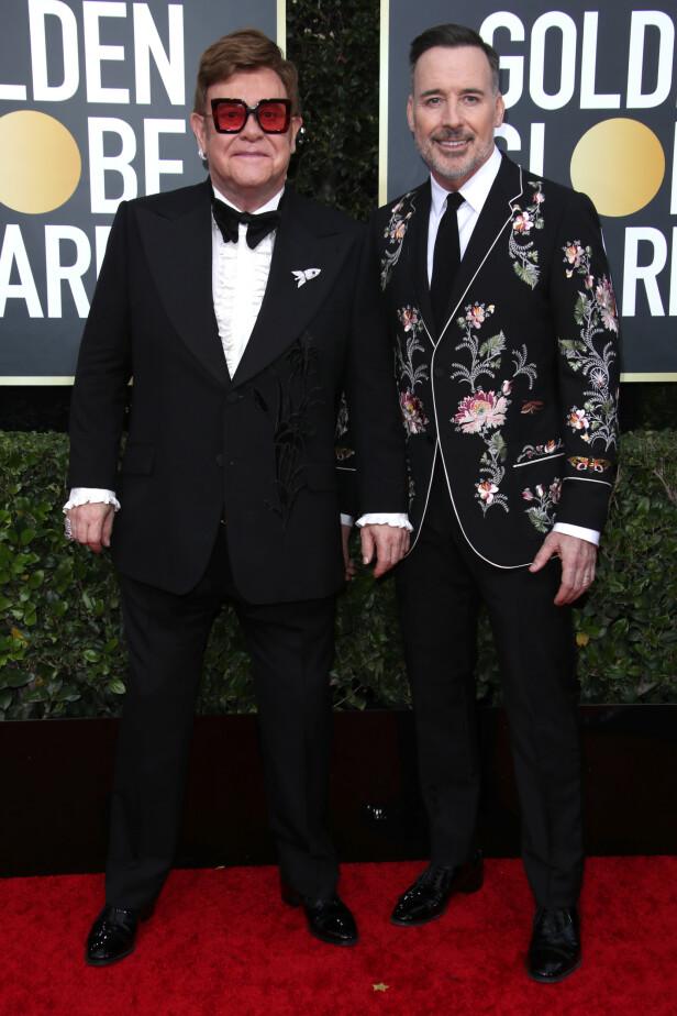 <strong>EKTEPAR:</strong> Elton John og David Furnish. Foto: NTB Scanpix