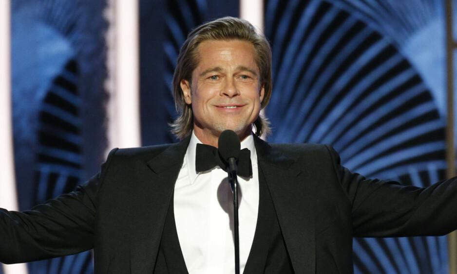 FIKK PRIS: Brad Pitt er blant nattens vinnere. Se fullstendig liste over vinnere i saken. Foto: NTB Scanpix