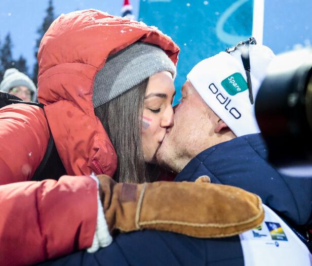 VENTER BARN: Hedda og Johannes blir snart foreldre for første gang. Her under VM i Östersund i fjor. Foto: NTB Scanpix