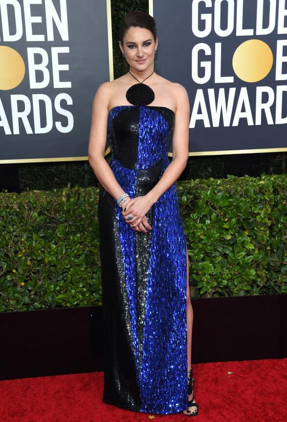 <strong>GLITRET:</strong> Shailene Woodley skilte seg ut i denne paljettkjolen. Foto: NTB scanpix