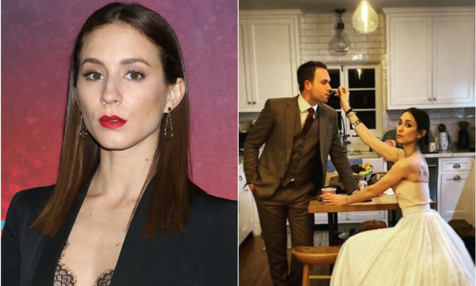 UTENOM DET VANLIGE : Skuespilleren beviste at hvilken som helst kjole kan være verdig en prisutdeling. Foto: NTB Scanpix/ skjermdump fra Instagram