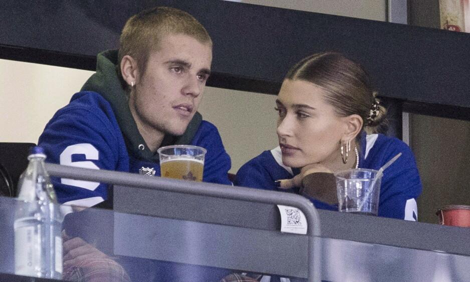SYK: I et innlegg på Instagram avslører Justin Bieber at han har blitt diagnostisert med sykdmmen lyme. Her med kona Hailey Bieber. Foto. NTB Scanpix