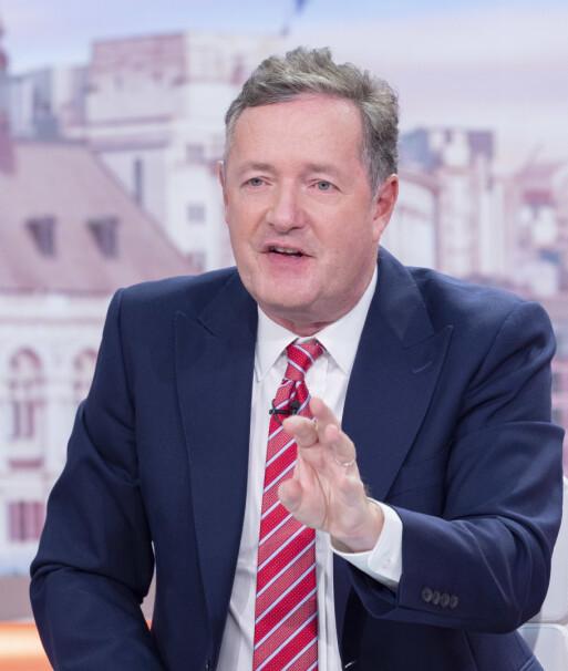 <strong>FYRER LØS:</strong> Piers Morgan er kjent for å ikke legge noe imellom når han fremsetter meningene sine. Her på «Good Morning Britain» mandag. Foto: Ken McKay/ ITV/ Shutterstock/ NTB scanpix