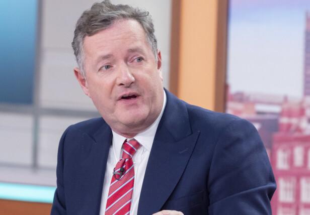KRITISK: Piers Morgan har flere ganger rettet en pekefinger mot hertuginne Meghan. Han er svært kritisk til parets valg. Foto: NTB Scanpix