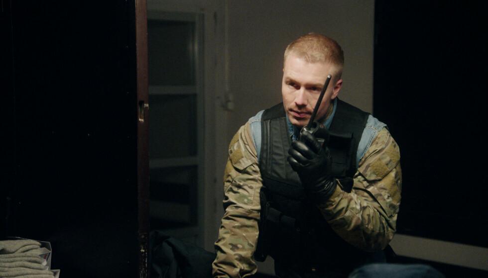 <strong>SUKSESS:</strong> Første episode av «Førstegangstjenesten» ga NRK seerrekord . Her spiller Flesvig den dyslektiske Ahre-Ketil, eller bare «Rambo», som alltid har lengtet etter militærlivet. Foto: NRK.