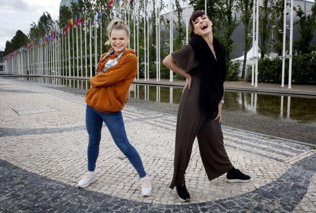 EUROVISION: Lisa danset for Alexander Rybak i Lisboa for snart to år siden. Her sammen med Lene Kokai Flage. Foto: Henning Lillegård / Dagbladet