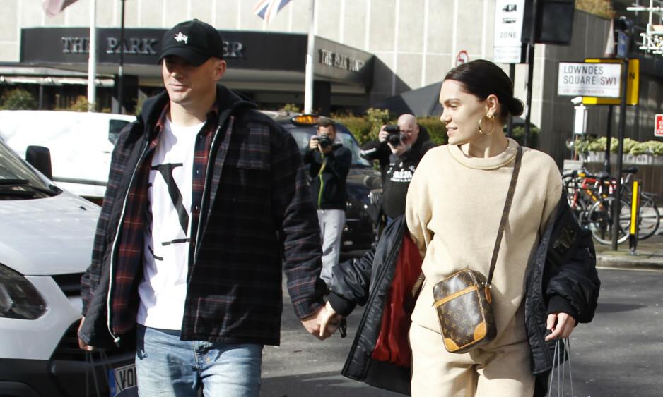 SAMMEN IGJEN? Dette bildet av Channing og Jessie J er tatt i London da de fremdeles var kjærester. Foto: NTB Scanpix