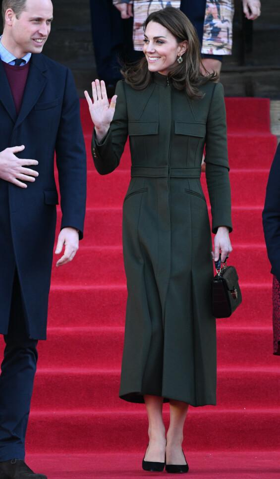 PÅ JOBB: Prins William og hertuginne Kate besøkte Bradford i dag, onsdag. Foto: NTB scanpix