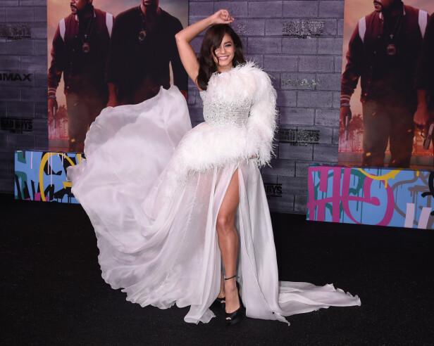 <strong>SMILTE:</strong> Vanessa Hudgens smilte stort på filmpremiere tirsdag kveld. Foto: NTB Scanpix
