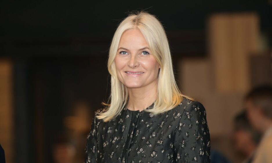 TILBAKE PÅ JOBB: Kronprinsesse Mette-Marit var torsdag på sitt første offisielle oppdrag for året. Da gjestet hun Deichmans nye hovedbibliotek i Bjørvika i Oslo. Foto: Andreas Fadum/Se og Hør