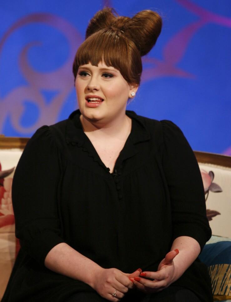 FORANDRET: Adele har forandret seg stort den siste tiden. Her avbildet i 2008. Foto: NTB Scanpix