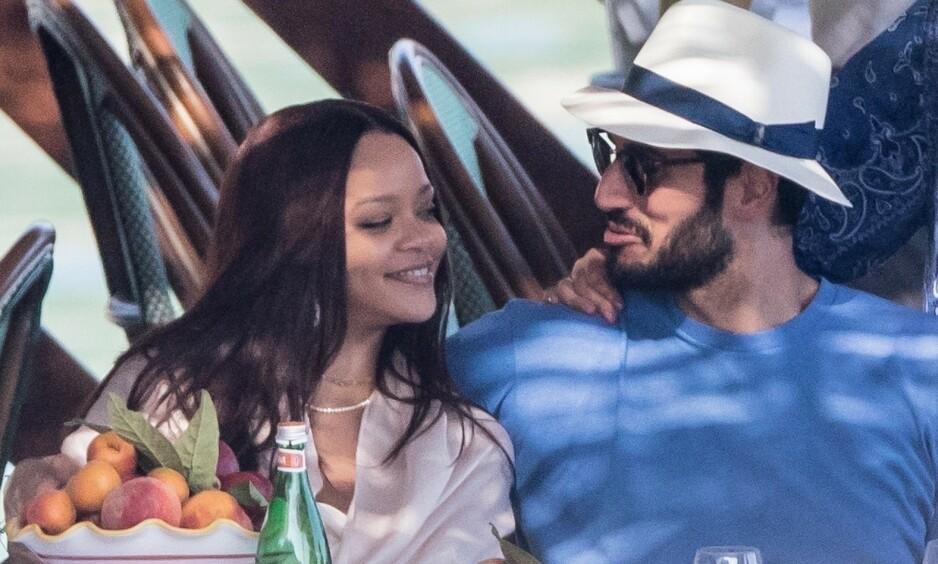 - BRUDD: Ifølge flere amerikanske nettsteder, er forholdet mellom Rihanna og Hassan Jameel nå over. Her er de to på ferie i Italia med hans familie i fjor sommer. Foto: NTB Scanpix