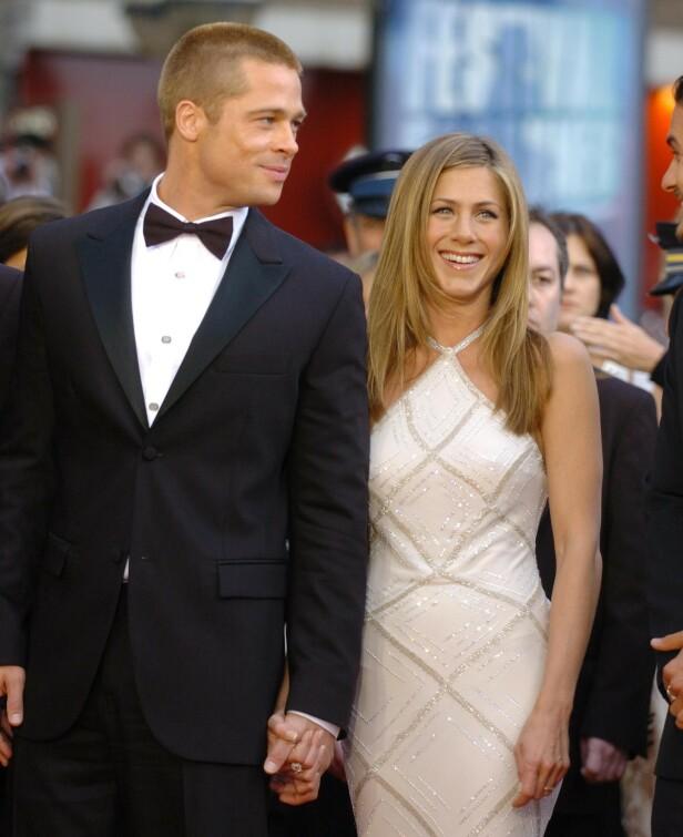 DEN GANG DA: Brad og Jennifer under en premiere i 2004. Foto: NTB Scanpix