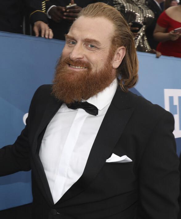 NORSK STJERNE: Kristofer Hivju var også til stede på Screen Actors Guild Awards. Foto: NTB scanpix