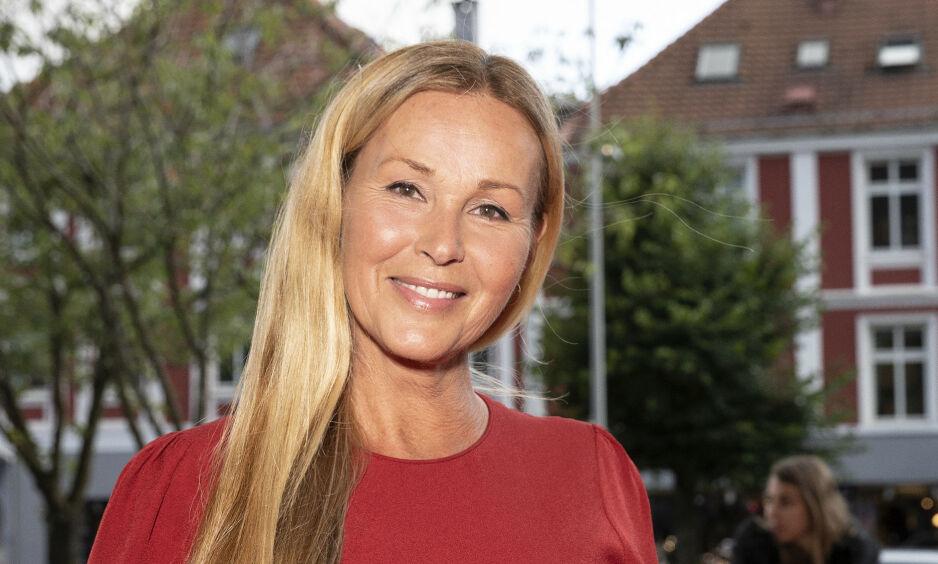 OPERERT: Dorthe Skappel kunne tirsdag fortelle at hun nylig har blitt operert. Foto: Andreas Fadum / Se og Hør