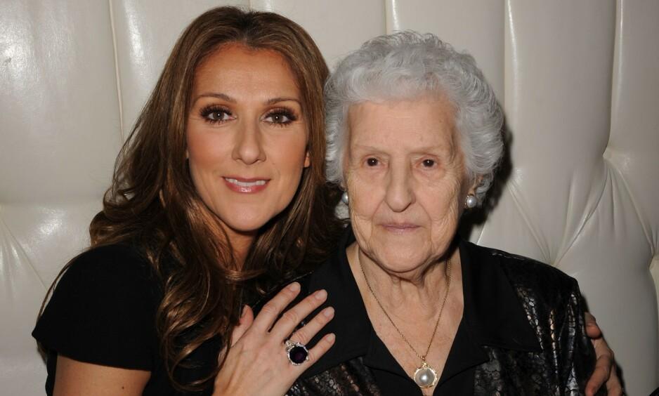 I SORG: Céline Dion mistet moren sin på fredag, fire år etter hun mistet både broren og ektemannen sin. Foto: NTB Scanpix