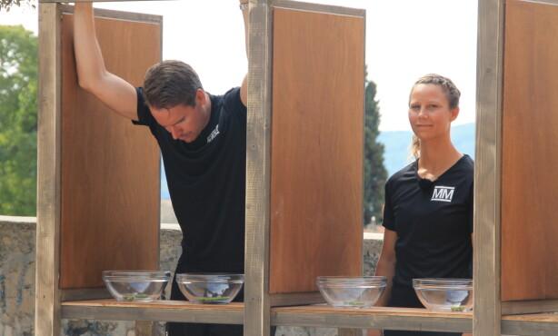 <strong>RØK UT:</strong> Fredag var det Emil Hegle Svendsen som måtte forlate konkurransen, etter at deltakerne hadde konkurrert i styrke og strategi. Foto: Sunniva Luca Veliz Pedersen, Rubicon / NRK