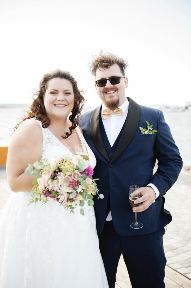 <strong>GIFT:</strong> Linn Pfister og Kristoffer Grinde er ett av parene som har giftet seg i programmet. Foto: TVNorge