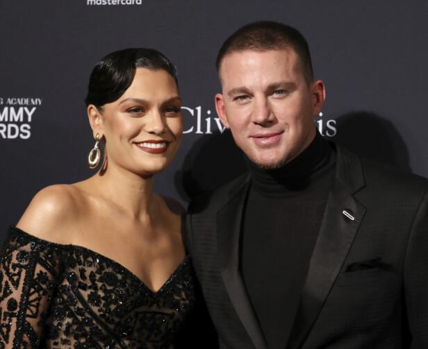 KJÆRESTER: Jessie J og Channing Tatum beviste virkelig at gjenforeningen var et faktum da de i helgen dukket opp sammen på rød løper. Foto: NTB Scanpix