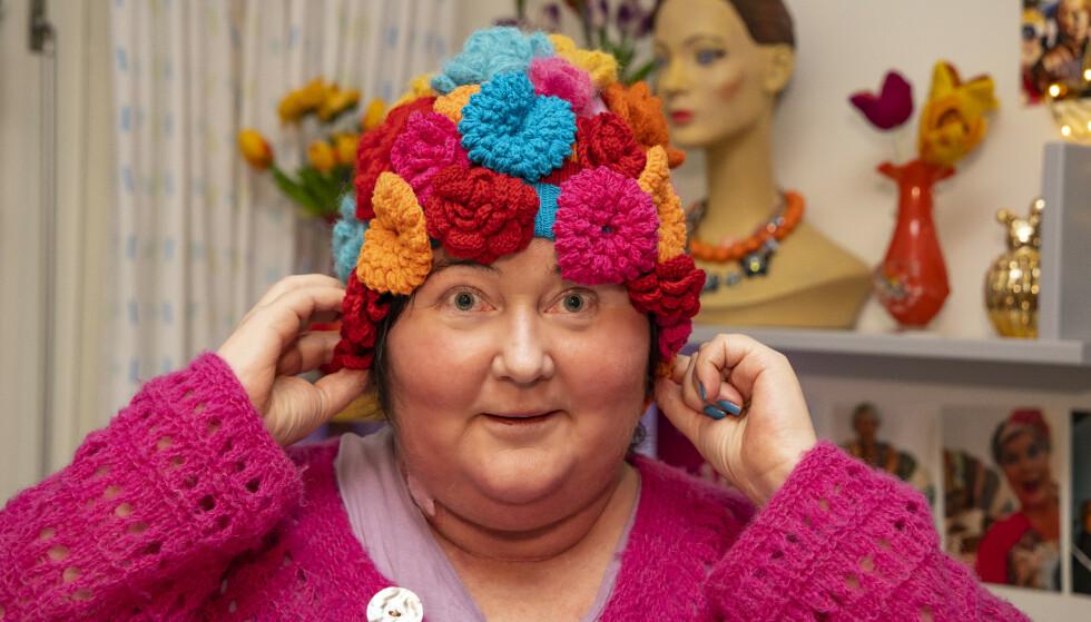 SYK: Christine Koht har i ett år vært kreftsyk, noe hun har vært svært åpen om gjennom. Her på Sunnaas. Foto: Tor Lindseth/Se og Hør