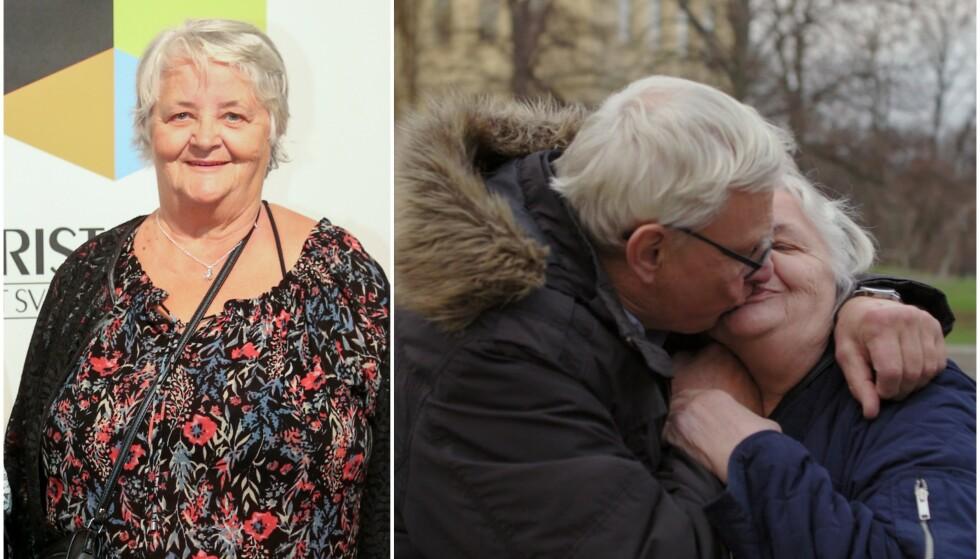 HAR FUNNET KJÆRLIGHETEN: «Ullared»-profilen Maritta Söderström har funnet kjærligheten. Foto: TT/ Viaplay/Viafree
