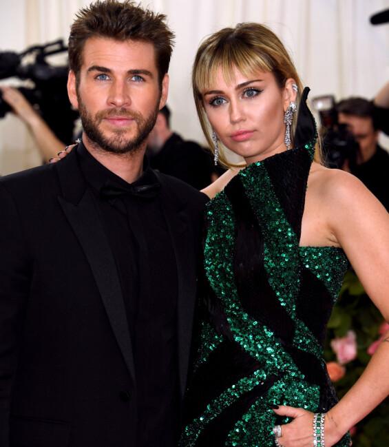 TURBULENT: Mange fans jublet nok da på-og-av-paret Liam og Miley ble gjenforent og bestemte seg for å gifte seg, men så viste det seg at lykken ble kortvarig. Foto: NTB scanpix