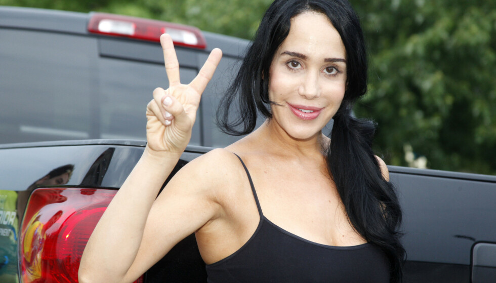 BLE VERDENSKJENT: Nadya Suleman, som kaller seg Natalie nå, ble verdenskjent i 2009 da hun fikk friske åttlinger. Nå har barna blitt hele elleve år gamle. Foto: NTB scanpix