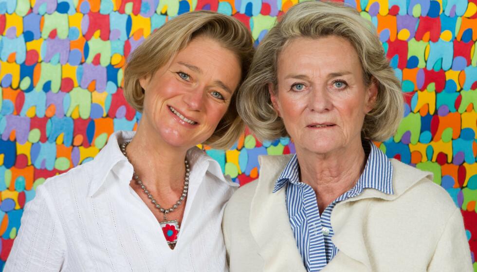 MOR OG DATTER: Sybille de Selys Longchamps og datteren Delphine Boël avbildet sammen i Belgia i 2012. Foto: AV Press/ ABACA PRESS/ NTB scanpix