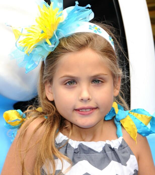 <strong>KRANGEL:</strong> Anna Nicole Smiths datter, Dannielynn. Det var lenge en offentlig krangel om hvem som var den lille jentas biologiske far. Foto: NTB Scanpix