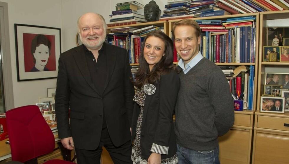 MUNTERT MØTE: Da kopiene av Kate og William var i Oslo i 2011, besøkte de også Se og Hørs hoffreporter Kjell Arne Totland på hans kontor. Foto: Se og Hør