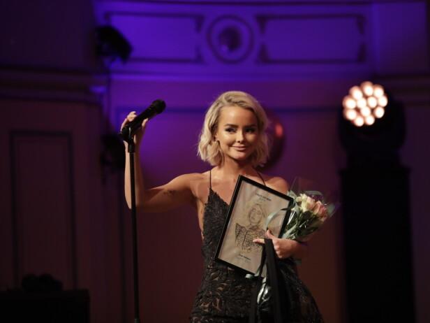 VANT PRIS: Sophie Elise Isachsen vant prisen for Årets Business, og det gikk ikke upåaktet hen. Foto: NTB Scanpix