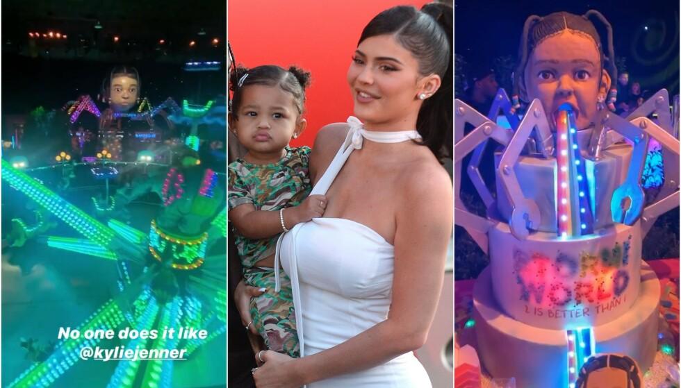 VILL FEST: Kylie Jenners datter Stormi fylte to år den 1. februar. Det gikk ikke forbi i stillhet. Mamma Kylie bestemte seg for å arrangere det som må være tidenes villeste barnebursdag. Foto: NTB scanpix / Instagram
