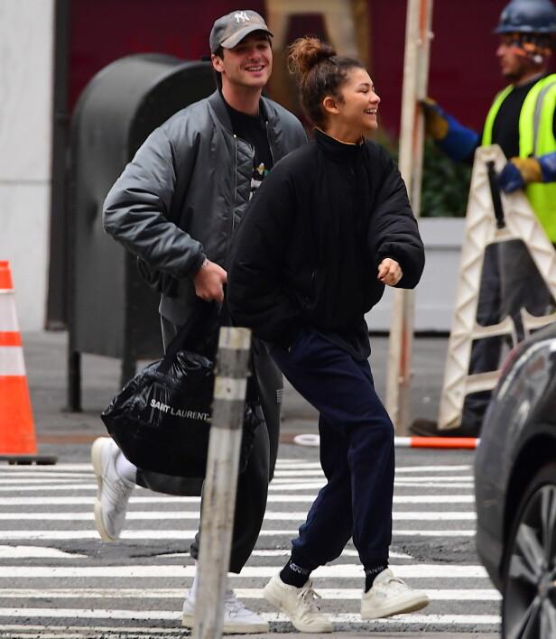 LYKKELIGE: Zendaya Coleman og Jacob Elordi ble også observert sammen tidligere samme dag. Foto: NTB scanpix