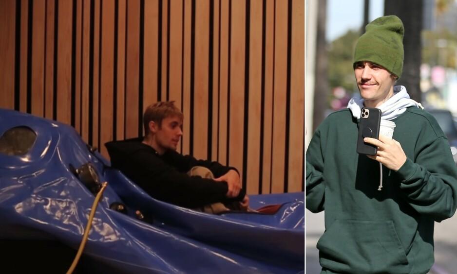 TRYKKAMMER: I sin nye dokumentarserie avslører Justin Bieber metoder han benytter seg av mot angst. Foto: YouTube / NTB Scanpix