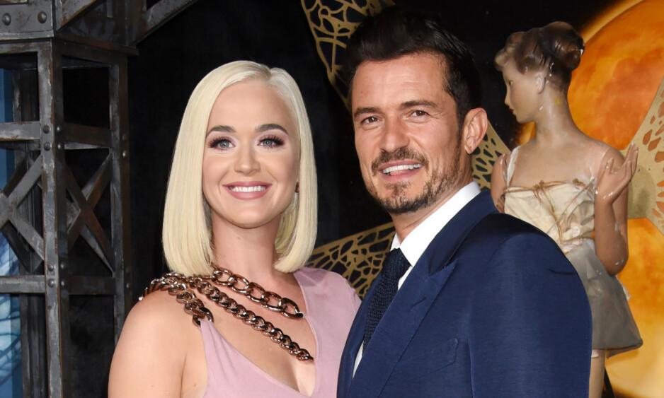 PLANLEGGER BRYLLUP: Katy Perry og Orlando Bloom skal være i gang med forberedelsene til sin store dag. Foto: NTB Scanpix