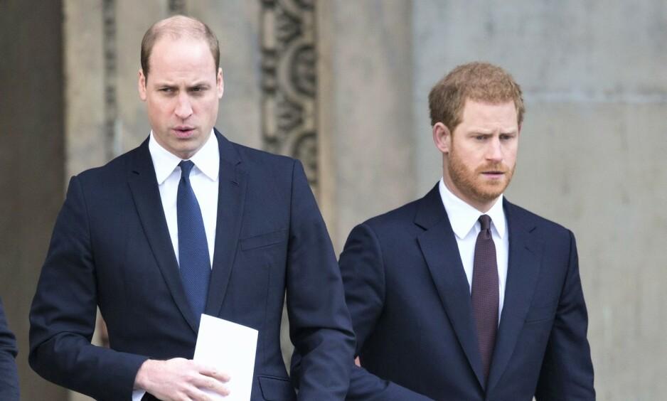 DÅRLIG STEMNING: Det har lenge blitt antatt at stemningen mellom de britiske prinsebrødrene har kjølnet. Foto: NTB scanpix