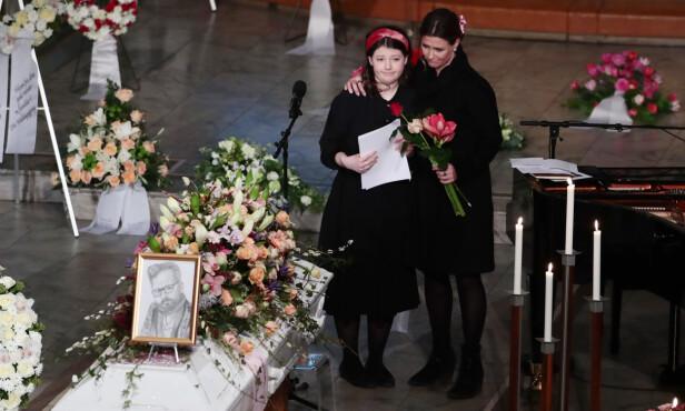 RØRENDE: Maud Angelica ble hyllet for sin svært rørende tale i faren Ari Behns bisettelse. Foto: NTB Scanpix