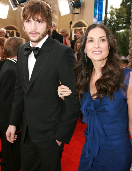 MISTET BARN: Demi Moore og eksmannen Ashton Kutcher mistet også barn i sjette måned. Foto: NTB scanpix