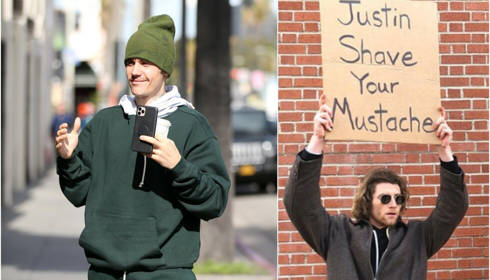 VEKKER OPPSIKT: Justin Bieber har den siste tiden fått stor oppmerksomhet for barten sin. Nå har han imidlertid svart kritikerne, og det tok ikke lang tid før superstjernens svar gikk viralt. Foto: NTB scanpix