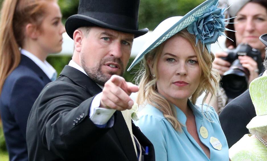 BRUDD: Peter og Autumn Phillips har bestemt seg for å gå hver til sitt, etter et 12-årig ekteskap. Peter, dronning Elizabeths barnebarn, skal være knust over bruddet. Foto: NTB scanpix