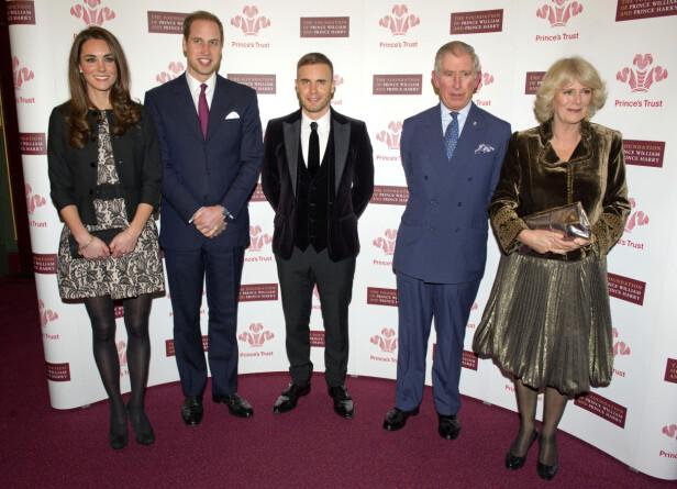 NI ÅR: Det er ni år siden William, Kate, Charles og Camilla var sammen på et offisielt oppdrag. Her på Royal Albert Hall i 2011. Foto: NTB scanpix