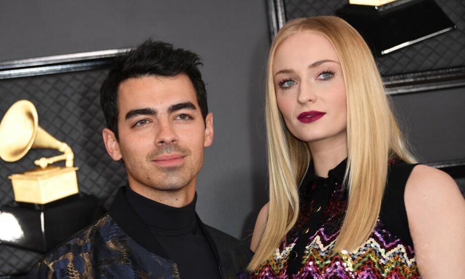 - VENTER BARN: Joe Jonas og Sophie Turner blir foreldre. Foto: NTB Scanpix