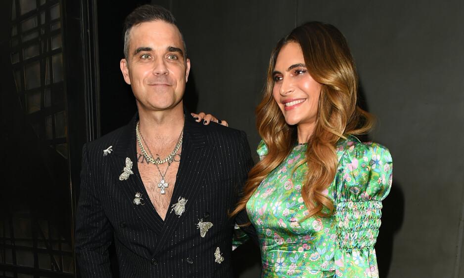 FIKK EN SØNN: Robbie Williams og Ayda Field har blitt foreldre for fjerde gang. Foto: NTB Scanpix