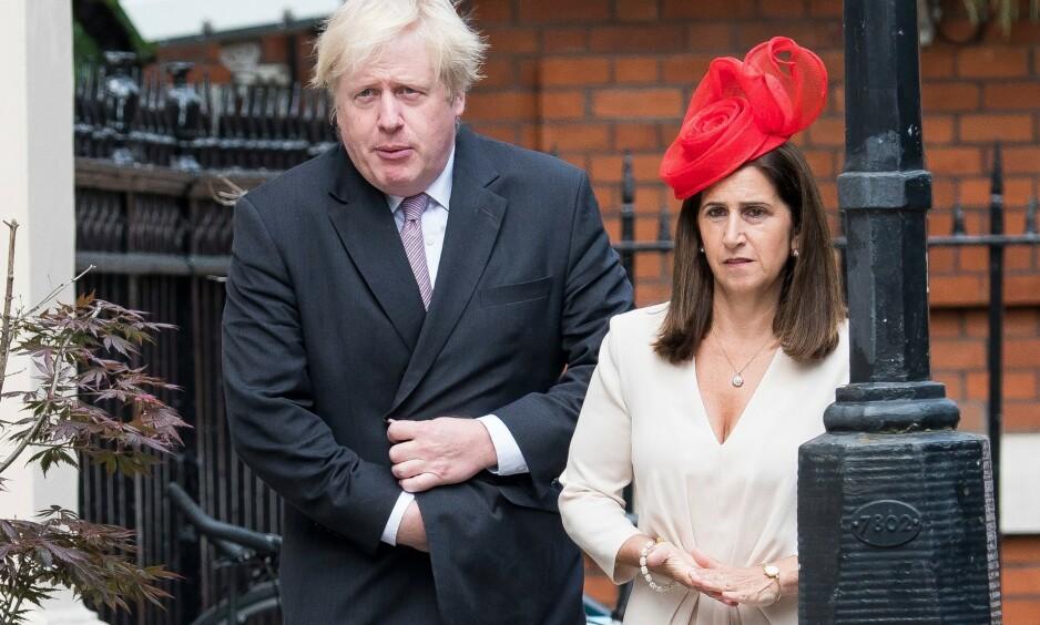 ENIGHET: Tirsdag ble det kjent at Marina Wheeler og Boris Johnson har kommet til enighet rundt skilsmissen. Her er de to avbildet sommeren 2018, få måneder før bruddet mellom dem ble kjent. Foto: REX/ NTB Scanpix