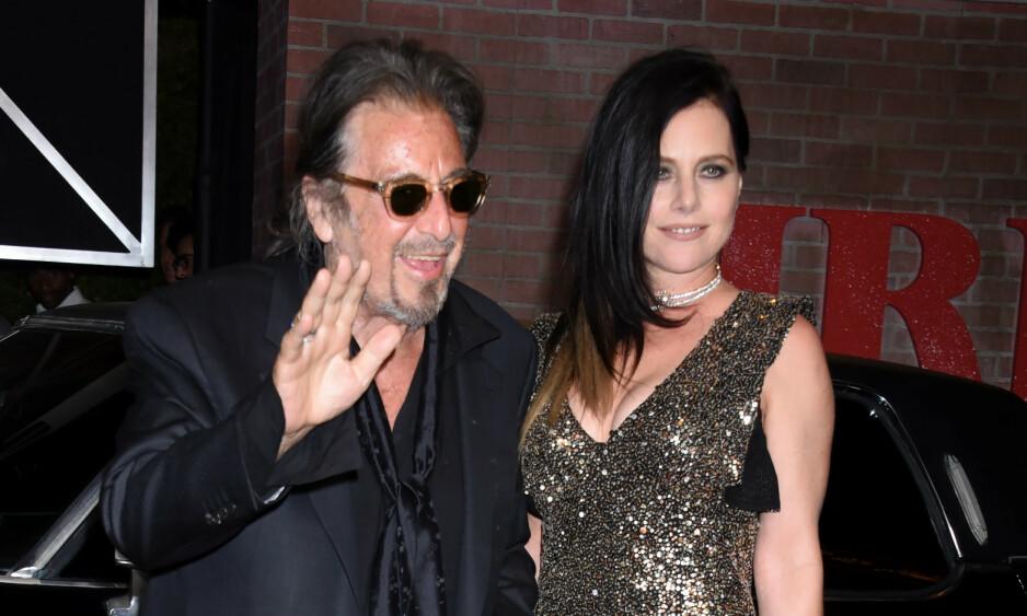 SLUTT: Al Pacino skal være en singel mann igjen etter at det nylig ble slutt mellom ham og skuespilleren Meital Dohan. Foto: NTB Scanpix