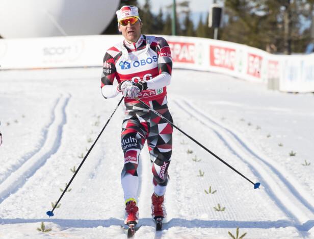 <strong>KALLENAVN:</strong> Øystein Pettersen fikk kallenavnet sitt på grunn av beina, forteller han. Her under NM på Lygna i fjor. Foto: NTB Scanpix