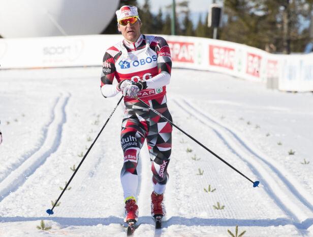 KALLENAVN: Øystein Pettersen fikk kallenavnet sitt på grunn av beina, forteller han. Her under NM på Lygna i fjor. Foto: NTB Scanpix