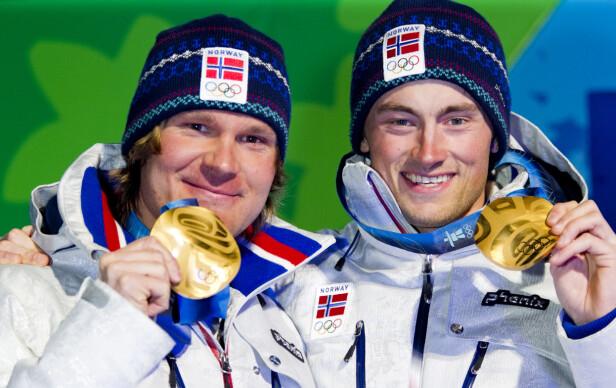 <strong>GULLGUTTER:</strong> Pettersen tok gull sammen med Petter Northug under lagsprinten i OL i 2010. Foto: NTB Scanpix
