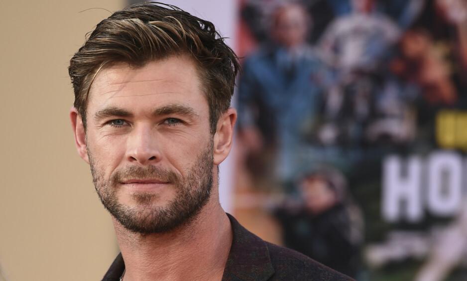 VELKOMMEN: Chris Hemsworth har tatt turen til Norge. Hvorfor vites derimot foreløpig ikke. Foto: NTB scanpix