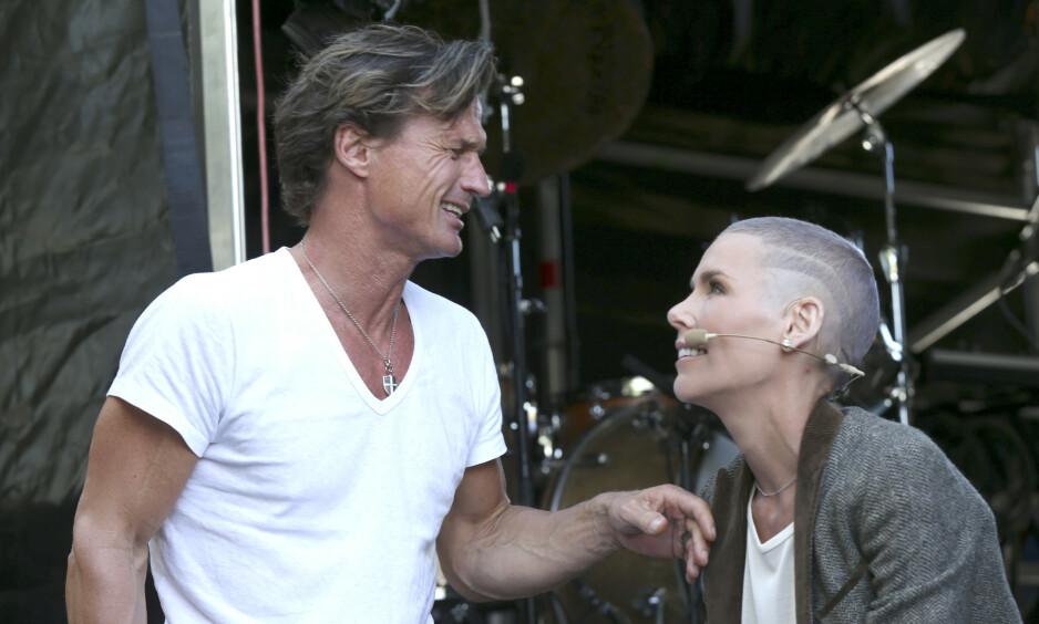 GODE VENNER: Selv om Petter og Gunhild Stordalen har flyttet fra hverandre har de beholdt det gode vennskapet. Foto: NTB Scanpix